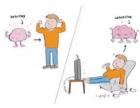 explainer video still of how the brain reacts to your life decisions