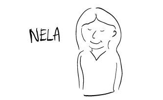 Nela smiling